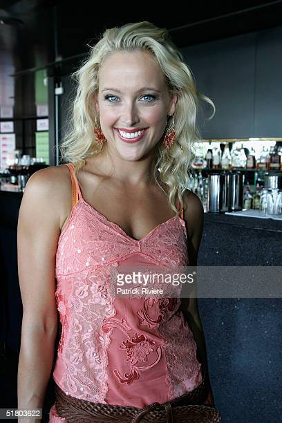 Model Ali Mutch attends the launch of Georgie a sleepwear exclusive range by actress Georgie Parker and Kmart on November 30 2004 at Posh Bar in...