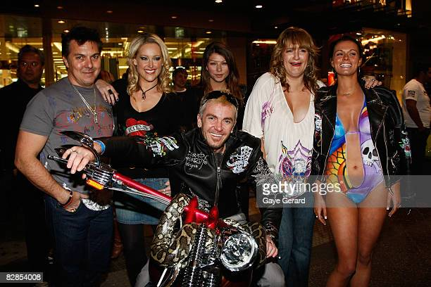 Model Ali Mutch Model Jordan Loukas Radio Host Bianca Dye Model Katie Cable and TV Personality Jason Coleman pose during the official launch party...