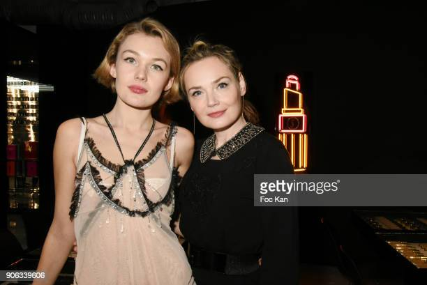 Model Alice Aufray and actress Julie Judd attend YSL Beauty Party During Paris Fashion Week Menswear Fall/Winter 20182019 on January 17 2018 in Paris...