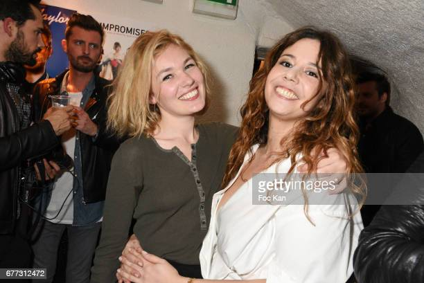 Model Alice Aufray and singer Chanez attend 'Attachiante' Chanez Concert and Birthday Party at Sentier des Halles Club on May 2 2017 in Paris France