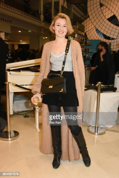 Model Alice Aufray attends 'Sous le Ciel Carte Blanche A Leandro Erlich' Installation Preview at Le Bon Marche Rive Gauche on January 12 2018 in...