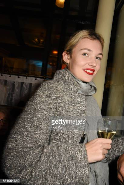 Model Alice Aufray attends the 'Prix De Flore 2017' Literary Prize Winner Announcement At Cafe De Flore on November 8 2017 in Paris France