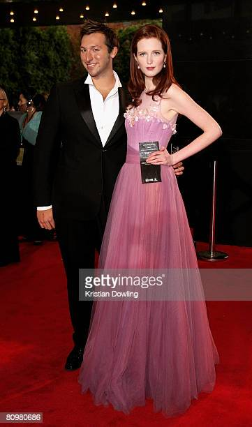 Model Alice Burdeau and former swimmer Ian Thorpe arrives on the red carpet at the 50th Annual TV Week Logie Awards at the Crown Towers Hotel and...