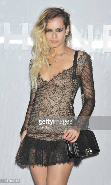 Model Alice Dellal attends the Chanel Party on March 23 2012 in Tokyo Japan
