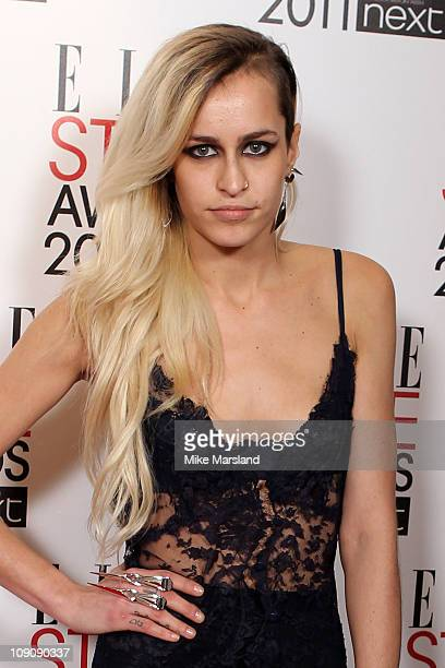 Model Alice Dellal attends the ELLE Style Awards 2011 at Grand Connaught Rooms on February 14 2011 in London England