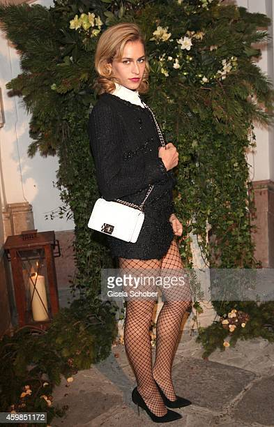 Model Alice Dellal during the Chanel Metiers d'Art Collection 2014/15 ParisSalzburg on December 2 2014 in Salzburg Austria