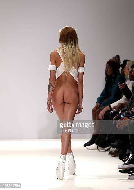 Model Alice Dellal On The Catwalk At The Pam Hogg Fashion Show Held At The Vauxhall Fashion Scout Venue In Freemasons' Hall As Part Of London Fashion...