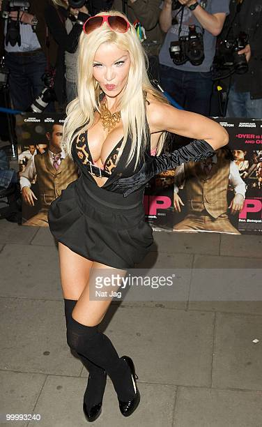 Model Alicia Douvall attends the UK Film Premiere of 'Pimp' at Odeon Covent Garden on May 19 2010 in London England