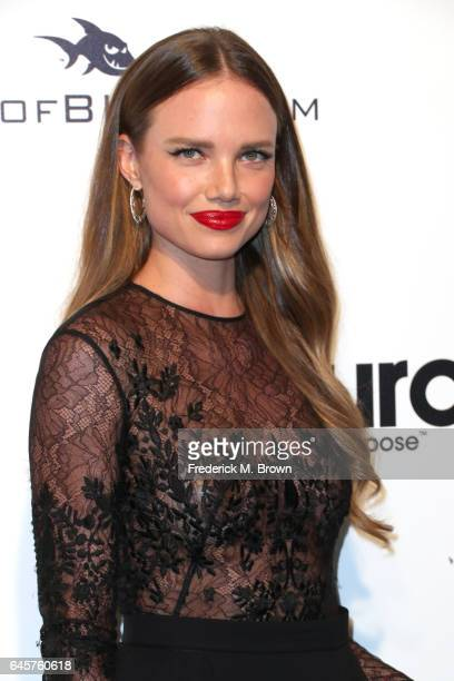 Model Alicia Rountree attends the 25th Annual Elton John AIDS Foundation's Academy Awards Viewing Party at The City of West Hollywood Park on...