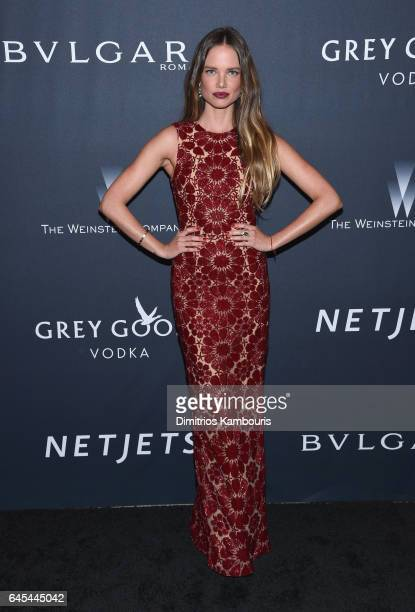 Model Alicia Rountree attends The Weinstein Company's PreOscar Dinner in partnership with Bvlgari and Grey Goose at Montage Beverly Hills on February...