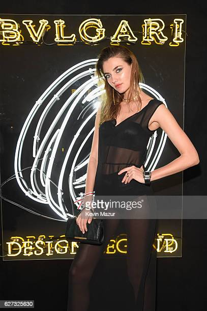 Model Alina Baikova attends as Bulgari supports Madonna's evening of music art mischief and performance to benefit Raising Malawi with an after party...