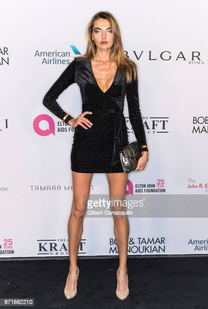 Model Alina Baikova attends as the Elton John AIDS Foundation commemorates its 25th year and honors founder Sir Elton John during the New York Fall...
