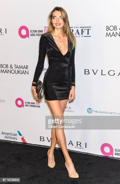 Model Alina Baikova attends Elton John AIDS Foundation Commemorates Its 25th Year And Honors Founder Sir Elton John During New York Fall Gala at...