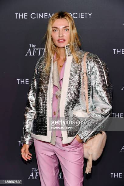 Model Alina Baikova attends screening for 'The Aftermath' in New York City at the Whitby Hotel on March 13 2019 in New York City