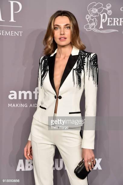 Model Alina Baikova attends the 2018 amfAR Gala New York at Cipriani Wall Street on February 7 2018 in New York City