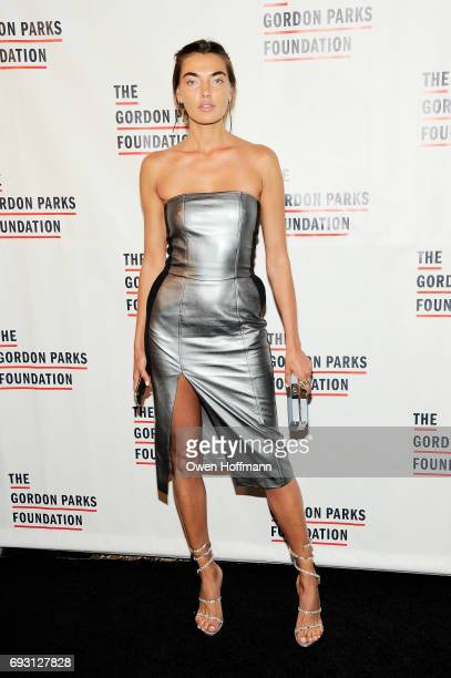 Model Alina Baikova attends the Gordon Parks Foundation Awards Dinner Auction at Cipriani 42nd Street on June 6 2017 in New York City
