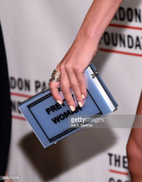Model Alina Baikova clutch detail attends the 2017 Gordon Parks Foundation Awards Gala at Cipriani 42nd Street on June 6 2017 in New York City