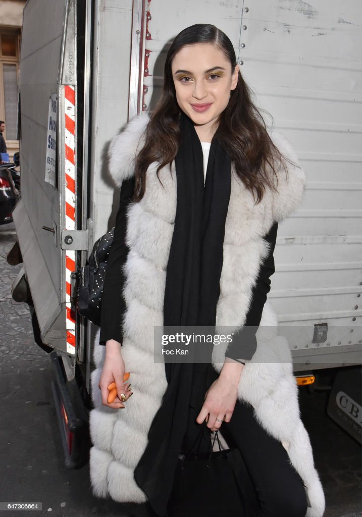 Model Alina Kozyrka attends the Alexis Mabille show as part of the Paris Fashion Week Womenswear Fall/Winter 2017/2018 on March 2, 2017 in Paris, France.