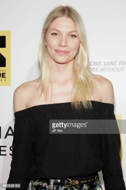 Model Aline Weber attends Gotham Cares Gala Fundraiser For The Syrian Refugee Crisis In Support of Medecin Sans Frontieres and The International...