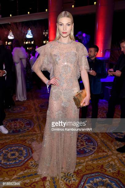 Model Aline Weber attends the 2018 amfAR Gala New York at Cipriani Wall Street on February 7 2018 in New York City