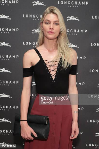 Model Aline Weber attends the opening of Longchamp Fifth Avenue Flagship at Longchamp on May 3 2018 in New York City