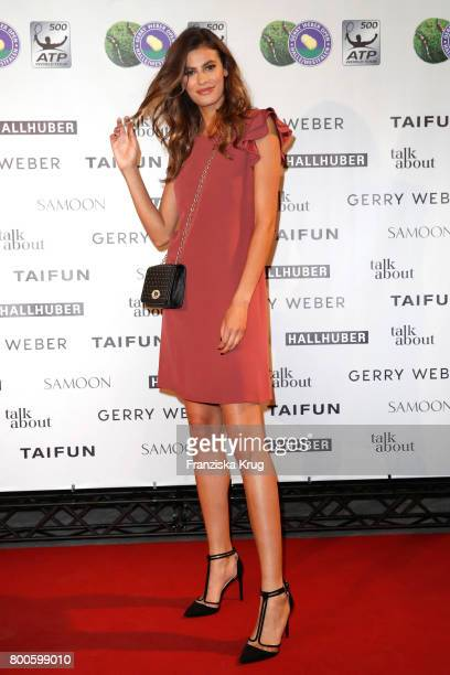 Model Alisar Ailabouni attends the Gerry Weber Open Fashion Night 2017 during the Gerry Weber Open 2017 at Gerry Weber Stadium on June 24 2017 in...