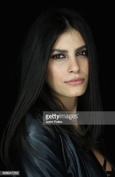 Model Alisar Ailabouni is seen backstage ahead of the Dimitri show during the MercedesBenz Fashion Week Berlin Autumn/Winter 2016 at Brandenburg Gate...