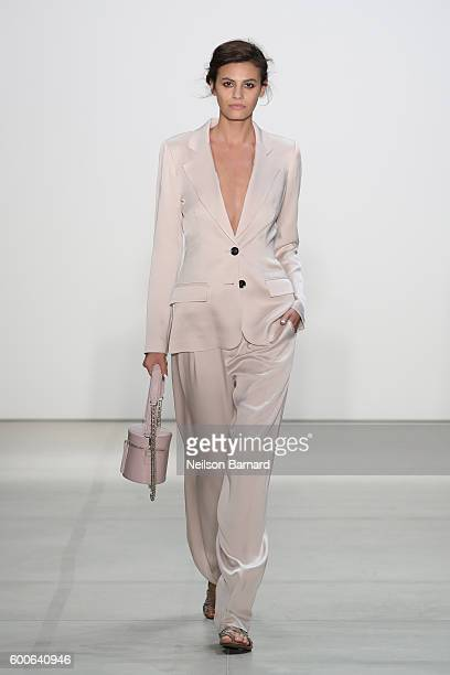 Model Alisar Ailabouni walks the runway at Marissa Webb fashion show during New York Fashion Week The Shows at The Gallery Skylight at Clarkson Sq on...