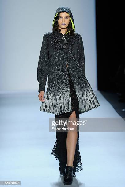 Model Alisar Ailabouni walks the runway at the Emerson Fall 2012 fashion show during MercedesBenz Fashion Week at The Studio at Lincoln Center on...