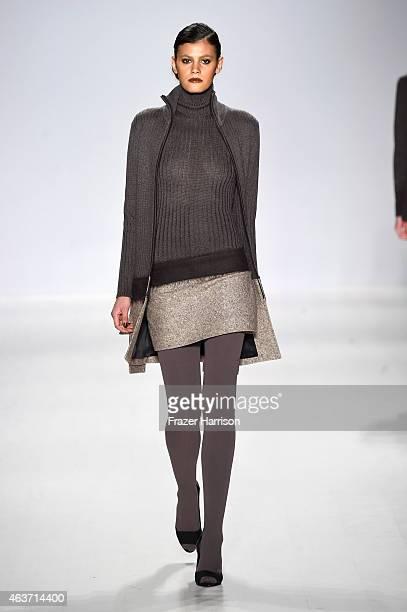 Model Alisar Ailabouni walks the runway at the Zang Toi fashion show during MercedesBenz Fashion Week Fall 2015 at The Salon at Lincoln Center on...