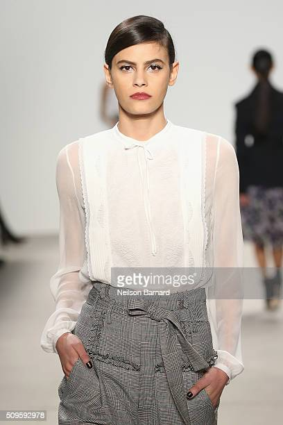 Model Alisar Ailabouni walks the runway wearing Marissa Webb Fall 2016 during New York Fashion Week The Shows at The Gallery Skylight at Clarkson...