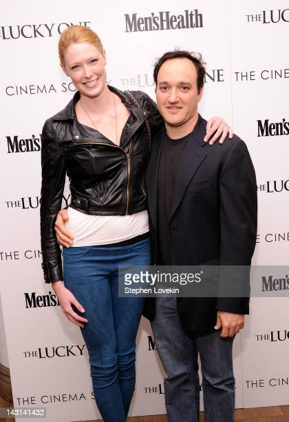 Model Alise Shoemaker and actor Gregg Bello and attend the Cinema Society Men's Health screening of 'The Lucky One' at the Crosby Street Hotel on...
