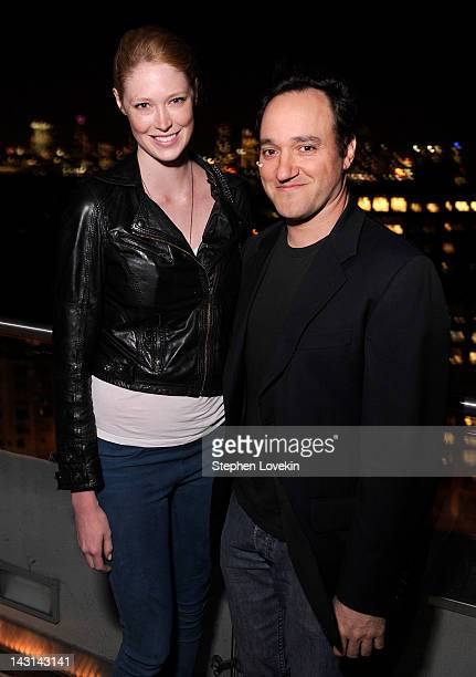 Model Alise Shoemaker and actor Gregg Bello attend the Cinema Society Men's Health screening of 'The Lucky One' after party at The Jimmy at the James...
