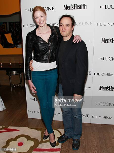 Model Alise Shoemaker and actor Gregg Bello attend the Cinema Society Men's Health host a screening of 'The Lucky One' at the Crosby Street Hotel on...
