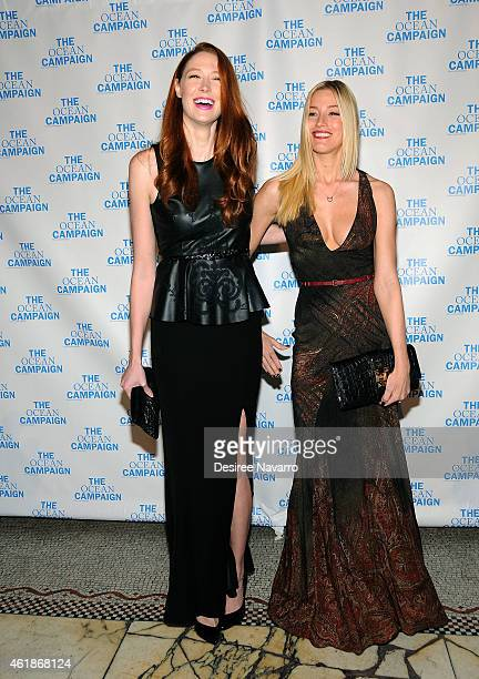 Model Alise Shoemaker and Aimee Ruby attend The Ocean Campaign Launch Gala at Capitale on January 20 2015 in New York City