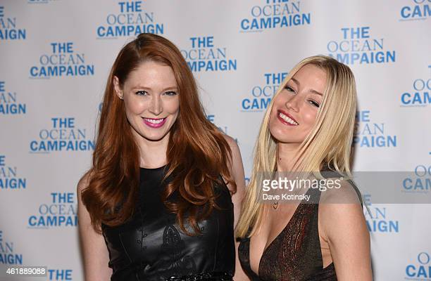 Model Alise Shoemaker and Aimee Ruby attends The Ocean Campaign Launch Gala at Capitale on January 20 2015 in New York City