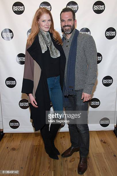 Model Alise Shoemaker and Christopher Lattner attend the 2nd Time Around Presents Pardon Our French at 2nd Time Around on March 3 2016 in New York...