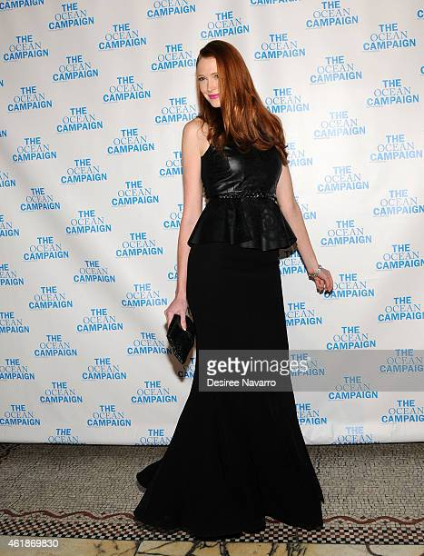 Model Alise Shoemaker attends The Ocean Campaign Launch Gala at Capitale on January 20 2015 in New York City