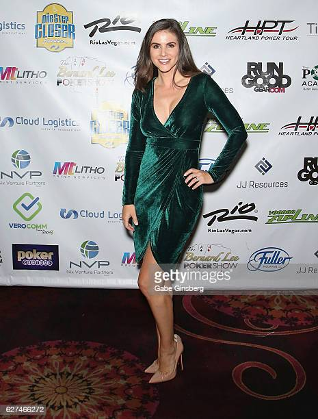 Model Alison Waite attends the All in for CP celebrity charity poker event at the Rio Hotel Casino benefiting the One Step Closer Foundation's effort...