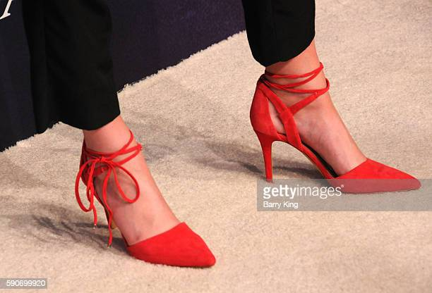 Model Alissa Violet shoe detail attends Variety's Power of Young Hollywood event presented by Pixhug with Platinum Sponsor Vince Camuto at NeueHouse...
