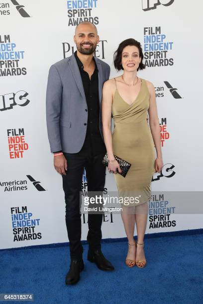 Model Alizee Gaillard and Darrin Charles attend the 2017 Film Independent Spirit Awards on February 25 2017 in Santa Monica California