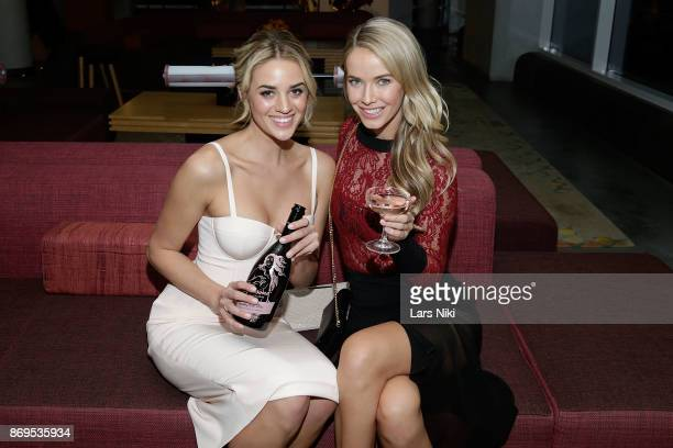 Model Allie Ayers and Actress model and Miss USA 2015 Olivia Jordan attend the SI Swimsuit 2018 Model Search celebration and preview of the Sports...