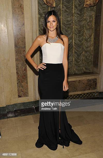 Model Allie Rizzo attends the ASPCA'S 18th Annual Bergh Ball honoring Edie Falco and Hilary Swank at The Plaza Hotel on April 9 2015 in New York City