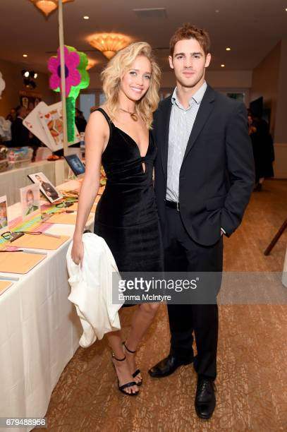 Model Allie Silva and Actor Steven R McQueen attend the 24th Annual Race To Erase MS Gala at The Beverly Hilton Hotel on May 5 2017 in Beverly Hills...