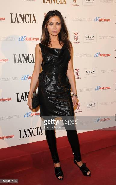 Model Almudena Fernandez arrives at Jose Miro aftershow party at Melia Los Galgos Hotel on February 21 2009 in Madrid Spain