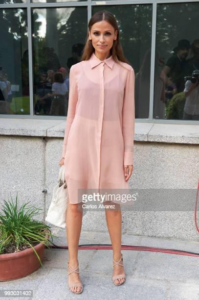 Model Almudena Fernandez attends Angel Schlesser show at Mercedes Benz Fashion Week Madrid Spring/ Summer 2019 on July 6 2018 in Madrid Spain on July...
