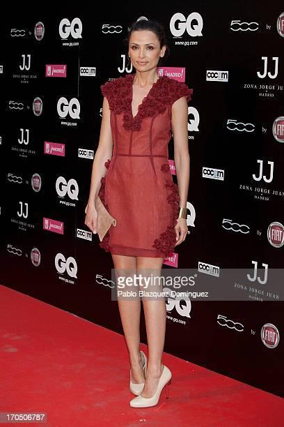 Model Almudena Fernandez attends 'La Noche de GQ San Jorge Juan' at Calle Jorge Juan on June 13 2013 in Madrid Spain