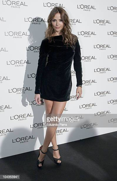 Model Almudena Fernandez attends L'Oreal Awards photocall at Ifema on September 22 2010 in Madrid Spain