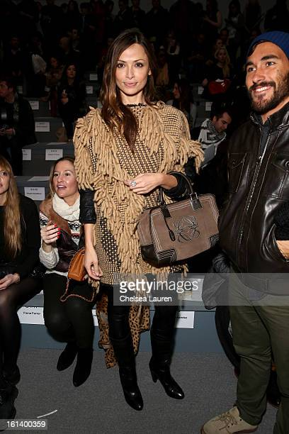 Model Almudena Fernandez attends the Custo Barcelona Fall 2013 fashion show during MercedesBenz Fashion at The Stage at Lincoln Center on February 10...