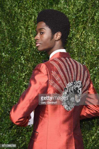 Model Alton Mason attends the 14th Annual CFDA/Vogue Fashion Fund Awards at Weylin B Seymour's on November 6 2017 in the Brooklyn borough of New York...